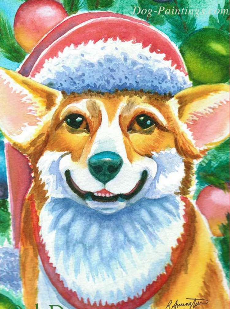 Corgi Christmas Card